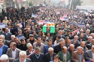 راهپیمایی محکومیت  آل سعود و اعدام شیخ نمر در یاسوج (۱۲)