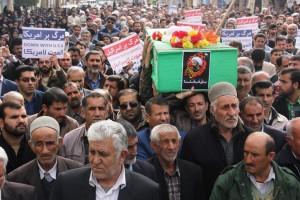 راهپیمایی محکومیت  آل سعود و اعدام شیخ نمر در یاسوج (۲۰)