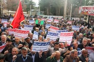 راهپیمایی محکومیت  آل سعود و اعدام شیخ نمر در یاسوج (۴)