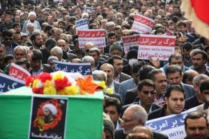 راهپیمایی محکومیت  آل سعود و اعدام شیخ نمر در یاسوج (۹)