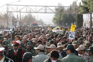 تشییع پیکر شهیدحرم سردار ستار اورنگ در یاسوج (۱)