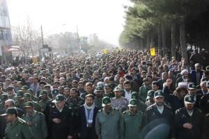 تشییع پیکر شهیدحرم سردار ستار اورنگ در یاسوج (۱۱)