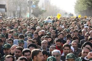 تشییع پیکر شهیدحرم سردار ستار اورنگ در یاسوج (۱۳)