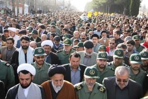 تشییع پیکر شهیدحرم سردار ستار اورنگ در یاسوج (۱۶)