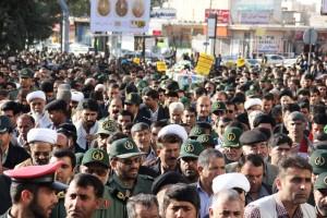تشییع پیکر شهیدحرم سردار ستار اورنگ در یاسوج (۲۰)