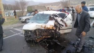 تصادف شوتی محور یاسوج - اصفهان (۳)