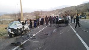 تصادف شوتی محور یاسوج - اصفهان (۴)