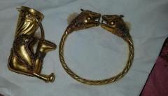 دستبند عتیقه طلا