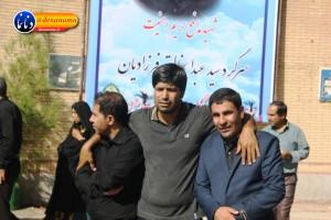 تشییع سرگرد شهید عبدالخالق فرزادیان در یاسوج (۲)