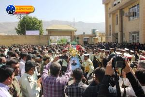 تشییع سرگرد شهید عبدالخالق فرزادیان در یاسوج (۲۰)