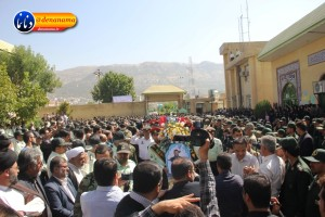 تشییع سرگرد شهید عبدالخالق فرزادیان در یاسوج (۲۲)