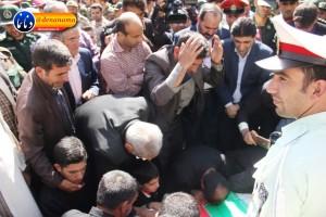 تشییع سرگرد شهید عبدالخالق فرزادیان در یاسوج (۲۵)