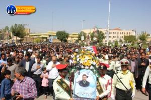تشییع سرگرد شهید عبدالخالق فرزادیان در یاسوج (۳۳)
