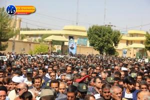 تشییع سرگرد شهید عبدالخالق فرزادیان در یاسوج (۳۴)
