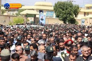 تشییع سرگرد شهید عبدالخالق فرزادیان در یاسوج (۳۵)
