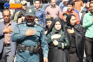 تشییع سرگرد شهید عبدالخالق فرزادیان در یاسوج (۳۶)