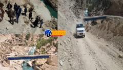 شادی اهالی روستای برآفتاب جلاله با عبور اولین اتومبیل از پل ارتباطی این روستا