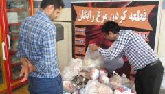معدومسازی ۱۰۰ کیلوگرم مرغ تاریخ مصرف گذشته در شهرستان دنا